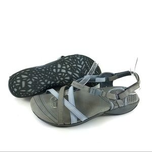 Merrell Sandals Gray Blue Strappy Comfort Shoes US